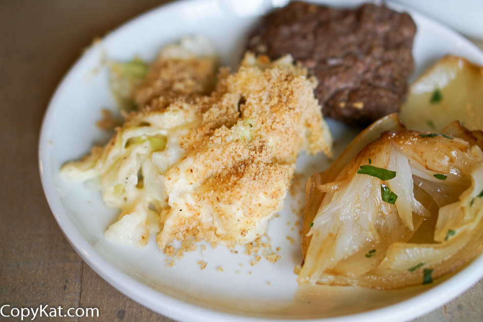 Enjoy this old fashioned escalloped cabbage.  Cabbage is cooked with a savory cheese sauce, this side dish is perfect for dinner.