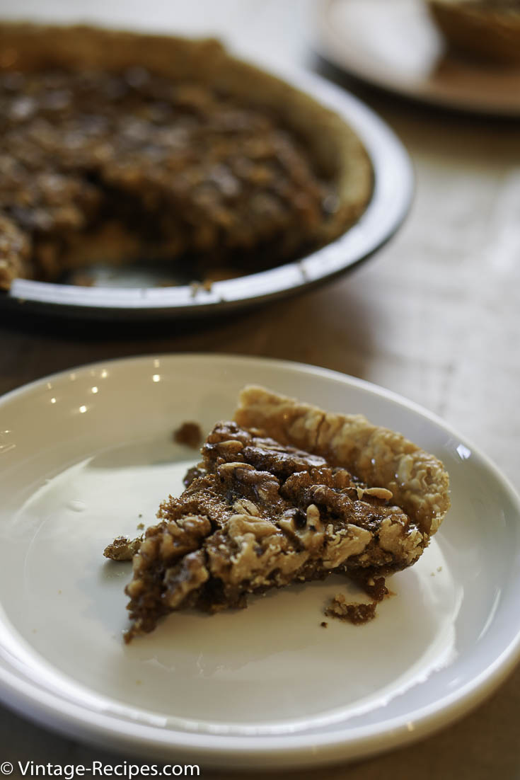Walnut pie is a super easy pie to make, it is a great alternative to pecan pie.